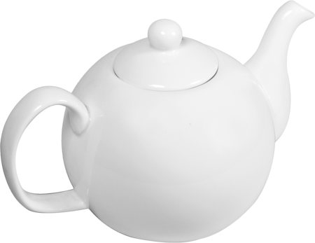 Wilmax ENGLAND Fine Porcelain Tea Pot, 1100 ml (White)
