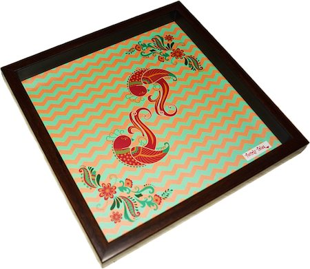 Twirly Tales Dancing Birds Series Square Tray