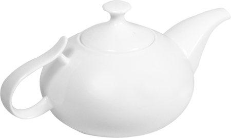Wilmax ENGLAND Fine Porcelain Tea Pot, 1400 ml (White)