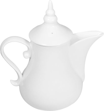 Wilmax ENGLAND Fine Porcelain Arabic Style Coffee Pot, 1000 ml (White)