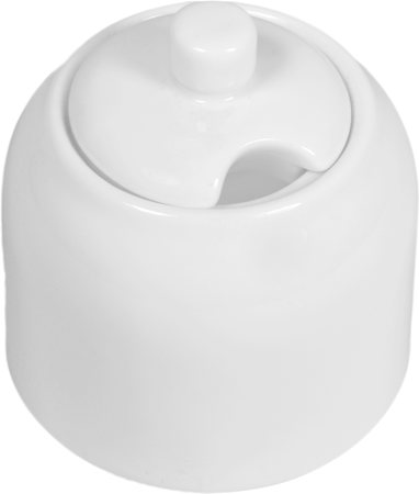 Wilmax ENGLAND Fine Porcelain Sugar Bowl, 280 ml (White)