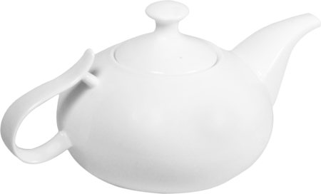 Wilmax ENGLAND Fine Porcelain Tea Pot, 2250 ml (White)