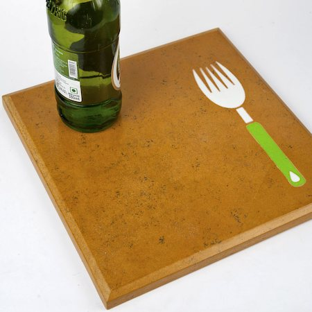 Amalgam Hand-carved Kitchenette Motif Stone Table Placemat - Design 1