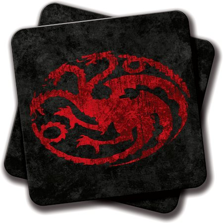 Amey Fire and Blood Coasters - set of 2
