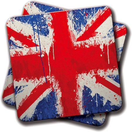 Amey British Flag Coasters - set of 2