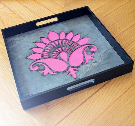 Amalgam The Lively Lotus Square Tray - Pink
