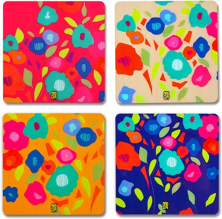 MadCap Obsession Cork Coasters - set of 4