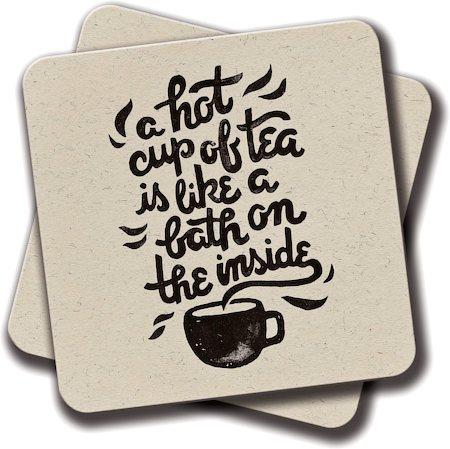 Amey A Hot Cup of Tea Coasters - set of 2