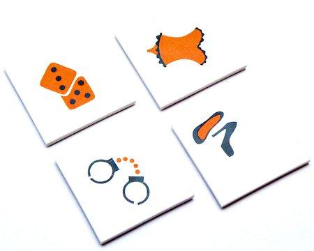 Amalgam Hand-crafted Kinky Collection White Marble Coasters - set of 4