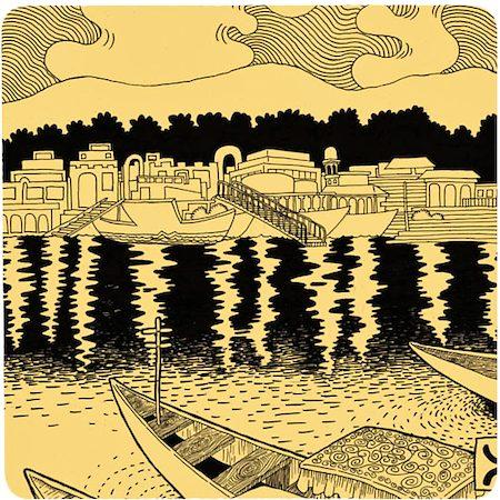Posterboy Charbak Dal Lake Coasters - set of 4