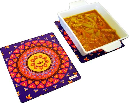 Twirly Tales Diya Series Trivets - set of 2