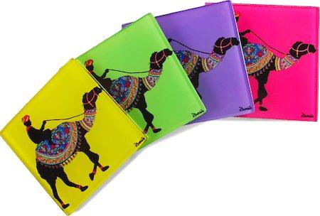Kolorobia Creative Camel Wooden Coasters - set of 4