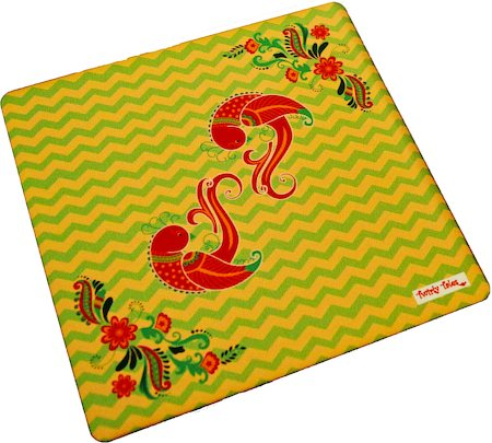 Twirly Tales Dancing Birds Series Trivets - set of 2