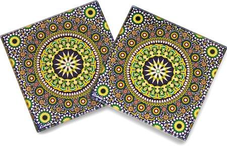 Kolorobia Wheeler Moroccan Wooden Coasters - set of 4