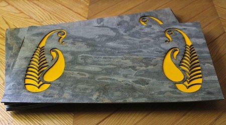 Amalgam The Pretty Paisley Rectangular Placemats (Yellow) - set of 6