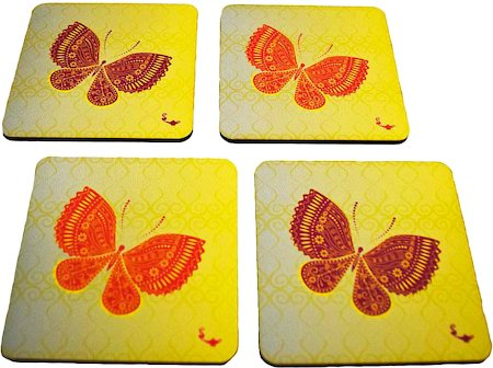 Twirly Tales Butterfly Series Coasters - set of 4