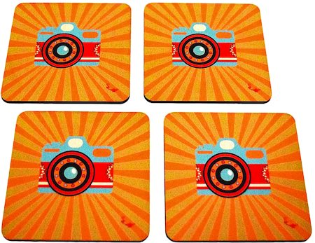 Twirly Tales Camera Series Coasters - set of 4