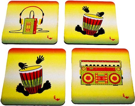 Twirly Tales Music Series Coasters - set of 4