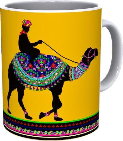 Kolorobia Camel Walk White Mug