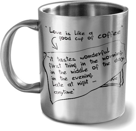 Hot Muggs Love is like a Good Cup of Coffee Mug