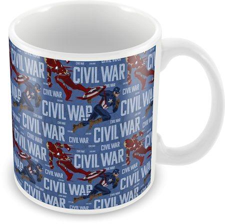 Marvel Civil War - Captain Iron Fight Ceramic Mug