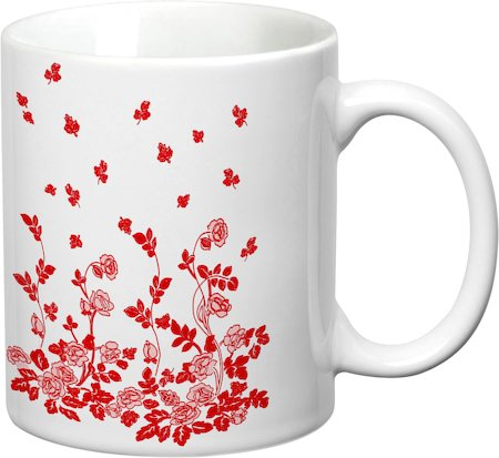 Prithish Floral Design Design 6 White Mug