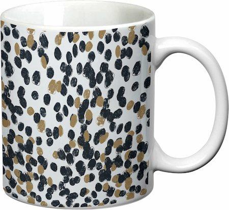 Prithish Abstract Design 25 White Mug