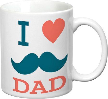 Prithish I Love Dad (Mooch) White Mug