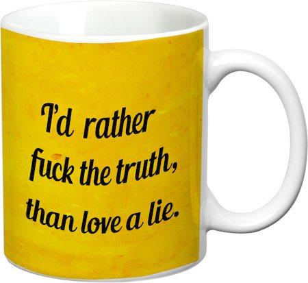 Prithish Love A Lie White Mug