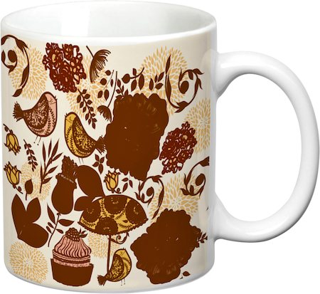 Prithish Floral With Birds Design 4 White Mug