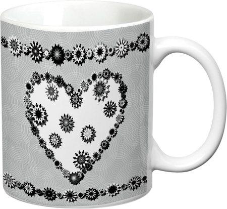 Prithish Abstract Design 18 White Mug