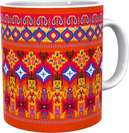 Kolorobia Vibrant Ikat Classic White Mug