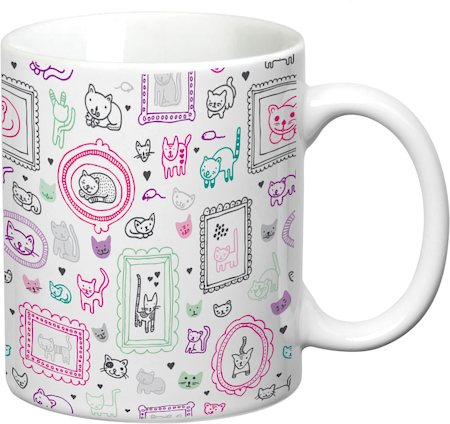 Prithish Cats Design 1 White Mug