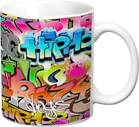 Prithish Grafitti Design 1 White Mug
