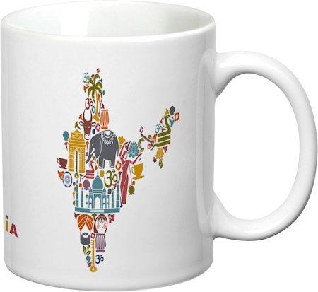 Prithish India Map White Mug