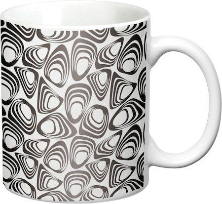 Prithish Abstract Design 14 White Mug