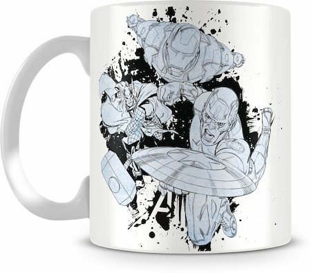 Marvel Assemble Cast Sketch Ceramic Mug