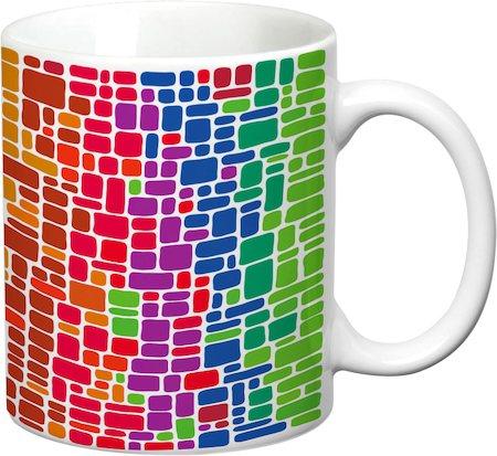 Prithish Abstract Design 40 White Mug