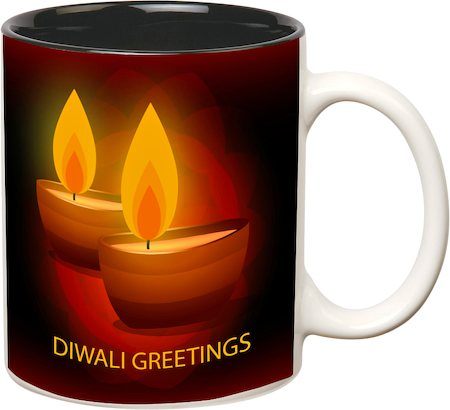 Prithish Diwali Design 2 Double Color Mug