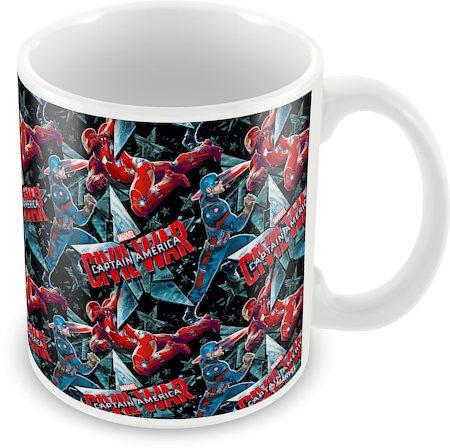Marvel Civil War - Captain Collage Ceramic Mug