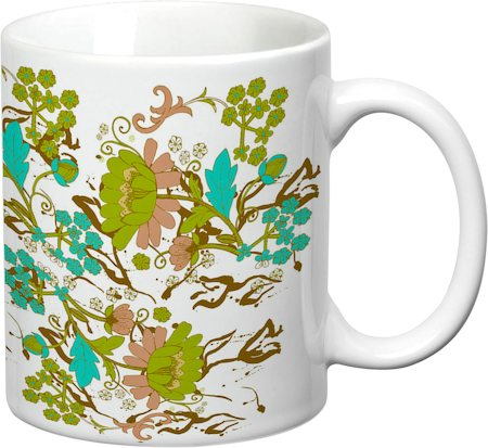 Prithish Floral Design 2 White Mug