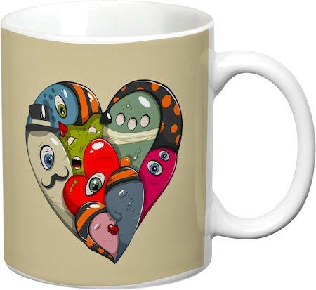 Prithish Abstract Design 20 White Mug