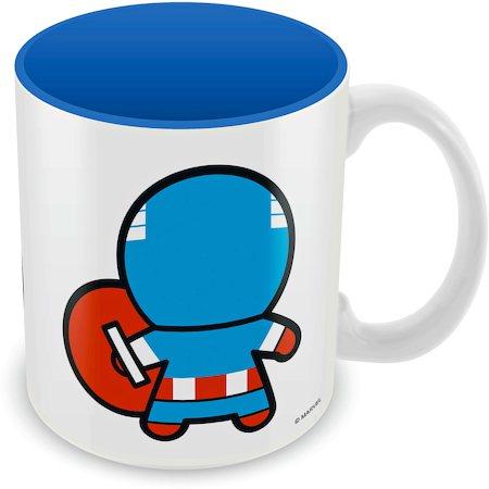 Marvel Kawaii Art - Captain America Ceramic Mug