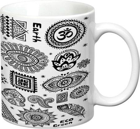 Prithish Yoga Open Your Eyes White Mug