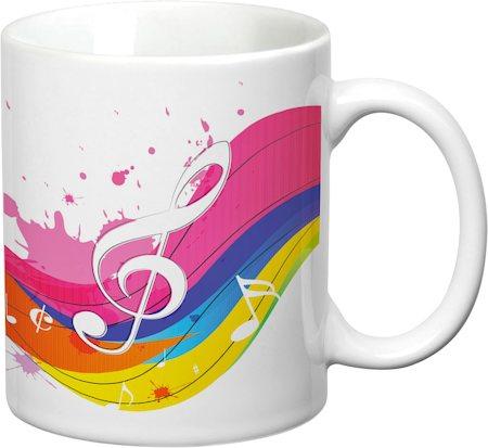 Prithish Musical Rainbow White Mug