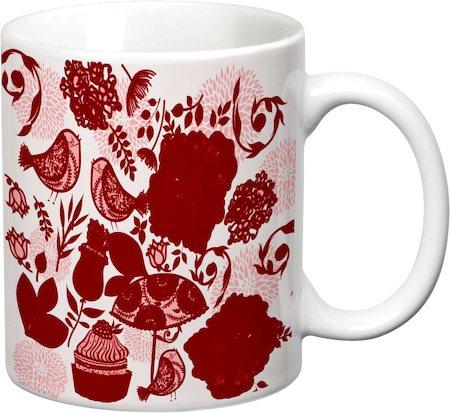 Prithish Floral With Birds Design 3 White Mug