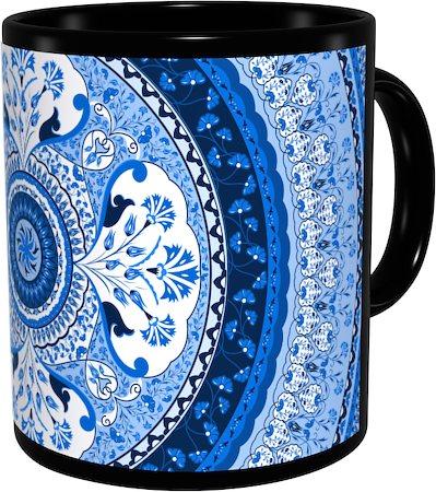 Kolorobia Turkish Blue Classic Black Mug