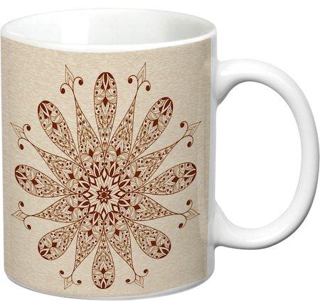 Prithish Abstract Design 16 White Mug