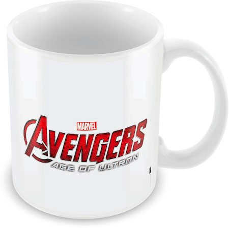 Marvel Avengers Colored Logo Ceramic Mug