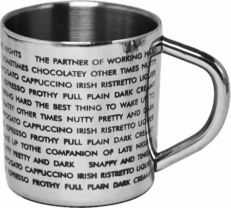 Hot Muggs For the Love of Coffee Mug - set of 4